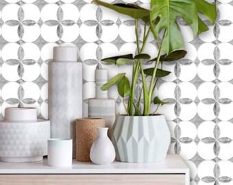 CLEARANCE!! Carrera Marble Effect Floor Panels - Removable Vinyl Floor or Wallpaper - Peel & Stick - No Glue, No Mess