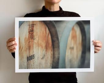 Wine Barrels, California Wineries.