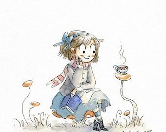 Alice - Original Watercolor Painting