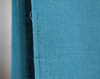 Light blue / robin's egg blue open weave textured cotton -soft woven fabric