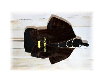 MINK Stole /  Vintage Genuine Fur / 1950's Cape /  Mink Wrap-One Size Fits All (D35)