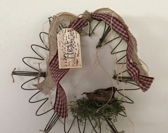 Bed Spring Wreath