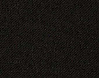 "Black Denim Jean Fabric 100% Cotton Denim 68"" Wide By The Yard 36"" Long"