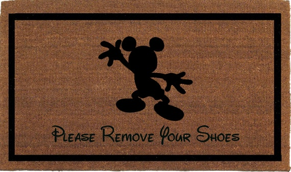 Mickey mouse please remove your shoes disney by franklinandfigg - Remove shoes doormat ...