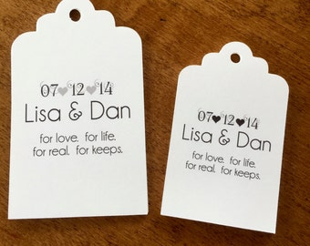10 Wedding/Bridal Shower/Anniversary Favor Tags, Paper and Party Supplies, Tags