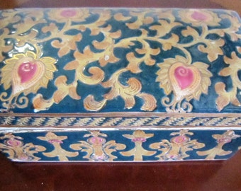 Covered Dish, Rectangle Candy Box, Jewelry Trinket box, Storage Box, Jewelry Box, Trinket Dish