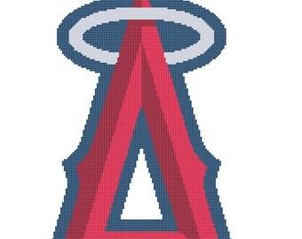 LA Angles of Anaheim Logo -- Counted Cross Stitch Chart Patterns, 3 sizes!