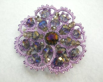 "lace brooch ""Lilac"""