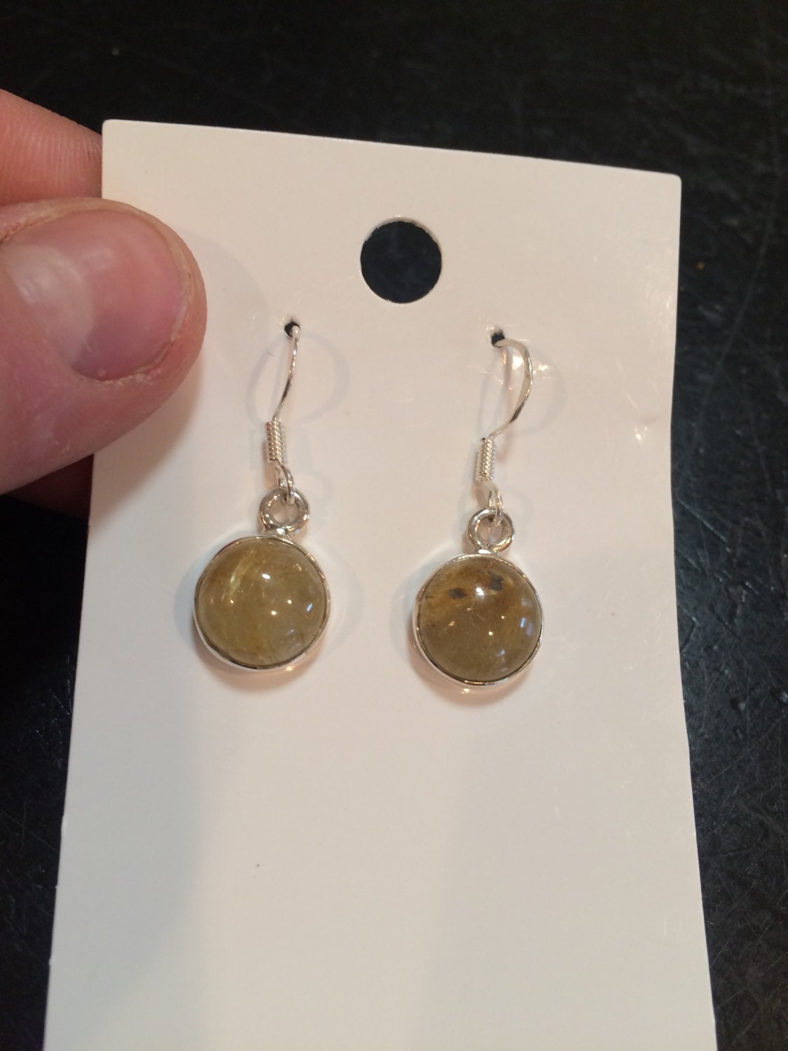 Rutilated quartz earrings golden rutilated quartz earrings for Golden rutilated quartz jewelry