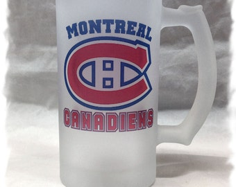 Montreal Canadiens Frosted 16 ounce Beer Mug