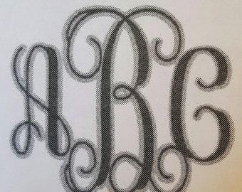 Vinyl Monogram Letters