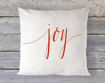 Christmas Pillow -20x20 - Joy Throw Pillow