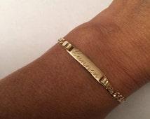 Personalized Initial Bracelet, Gift ,Daughter Bracelet, Baby Bracelet, Mother Daughter Bracelets, Gold Bracelet