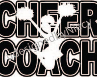 Cheer Coach svg,dxf,eps,png  files...Instant Download