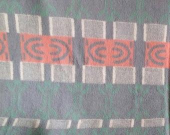 Vintage llama wool blanket geometric