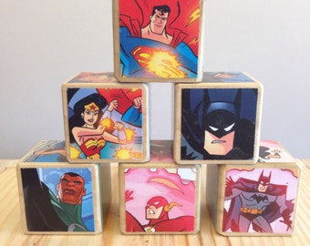 Justice League storybook blocks