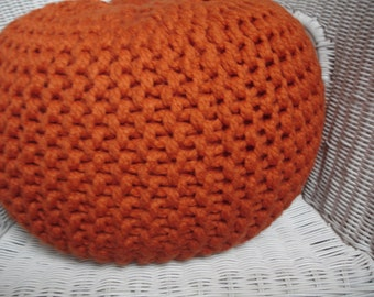 Hand knitted Pouf,Footstol,Ottoman,Floor cushion, ( REDUCED UNTIL 25th AUGUST 2016 )