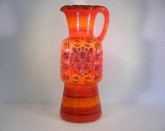 Orange/red Dumler & Breiden studio series vase