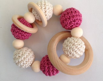 Sweet model wood teething toy. 100% hand made. Baby teether Wooden toys for babies, baby.