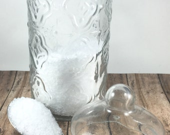 Gardenia Bath Salt, Floral Bath Salt, Handmade Bath Salt, Detox Bath Salt, Epsom Salt Bath Soak, Vegan Bath Salt, 8oz Bag