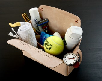Leather Beach Pack, Leather Box