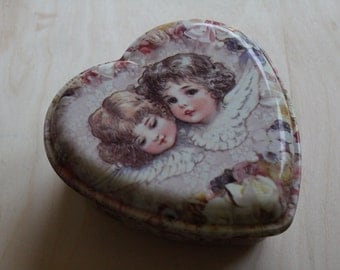 sweet vintage twin angels box