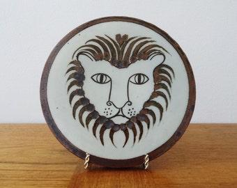 Ken Edwards El Palomar Mexico Stoneware Lion Face Trivet