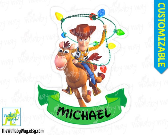 Toy Story Christmas : Woody toy story christmas printable iron on transfer or use as