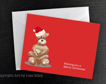 Christmas Card, Holiday Card, Custom Christmas Card, Christmas Cards, Holiday Cards, Christmas Card Set, Holiday Card Set, Bear