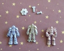 Toy Transformer Robot Bolt Screw Silicone Mold Fondant Chocolate Candy Cupcake Topper Cake Decorating Tool Resin Polymer Clay Craft