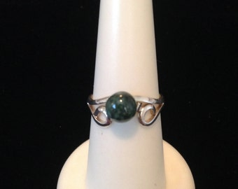 ring with jade and silver