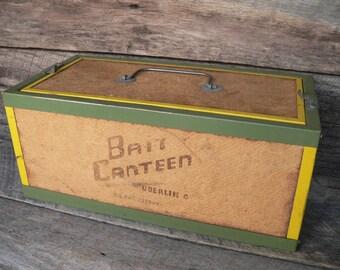BAIT CANTEEN BOX, Fishing Bait Box, Worm Box, Oberlin Ohio