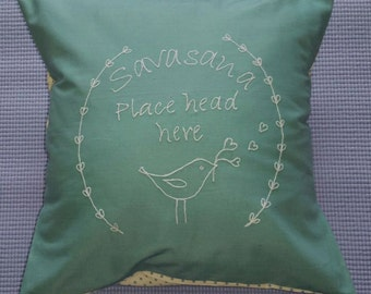 Time to relax?? Embroidered Savasana Cushion