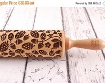 AUTUMN SALE STRAWBERRY Field – embossing rolling pin