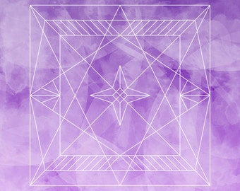 Indigo/Violet Geometric Print {Download } || Print // Decor // Bohemian // Boho