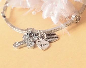 Mom, gift, Mum gift, jewellery, Mum, bracelet, mother, Jewelry, gift for mom, mother daughter, cross Jewelry, grandma, Nana, cross,