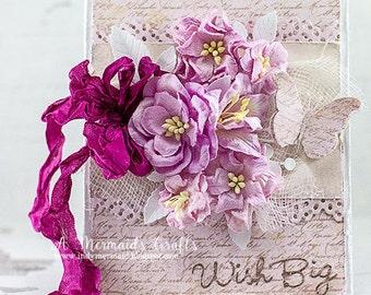 Shabby Chic Wish Big Birthday Card
