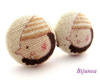 Dwarf earrings - Dwarf Snow White stud earrings - Snow white studs - Dwarf posts - Dwarf post earrings sf942