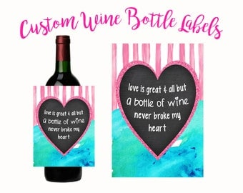 Instant Download Wine Label, Wine Quotes, Wine Label, Wine Label, Printable Wine Label, Bachelorette, Breakup