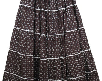 Starry Night Brocade Skirt