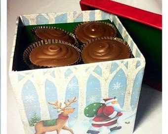 Peanut Butter Cup Holiday Gift Box