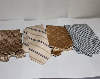 Four Vintage Ties, NICE Condition, Makers Include Inspirations, Made in USA, and One is 100% Silk, Other Two No Names, But Great Ties