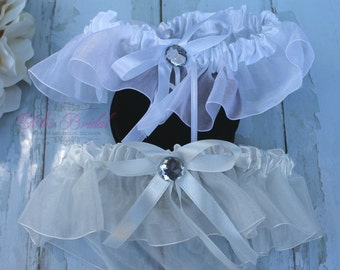 FAST Shipping!!!!  Beautiful Wedding Garter, Bridal Garter, Garter, Rhinestones Garter