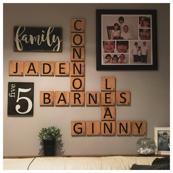 Gallery wall decor wooden sign family sign by rusticlaneca - Wood letter wall decor ...