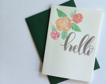 """Set of 10 """"hello"""" cards"""