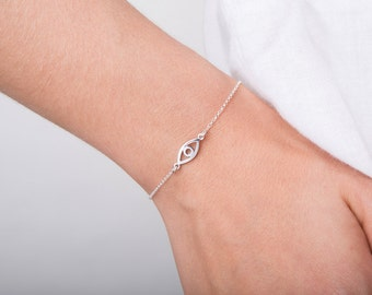 Eye Bracelet, Protection Bracelet, Evil Eye Bracelet, 925 Sterling Silver
