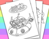 Little Einsteins  - Animation Movies - 4 Coloring Pages - Instant Download - Printable Digital PDF - Party Supply 137LECP01