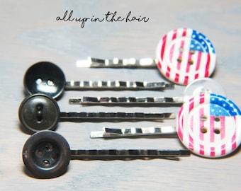 Flower Bobby Pins - Bobby Pins - Hair Pins - Bobby Pin Set - Flower Hair Pins - Large Bobby Pins - Stocking Stuffer - Christmas Gift