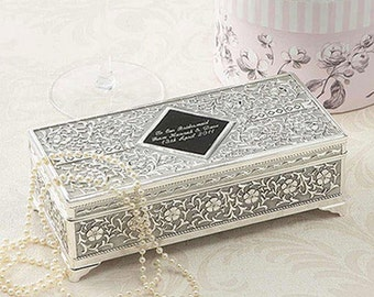 Enchanting Silver Personalised Jewellery Box