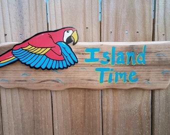 Island Time Tiki Sign